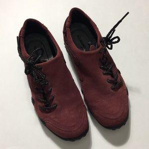 Mephisto • Allrounder Burgundy Suede Shoes EUC